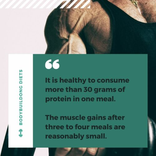 High Protein Intake every meal