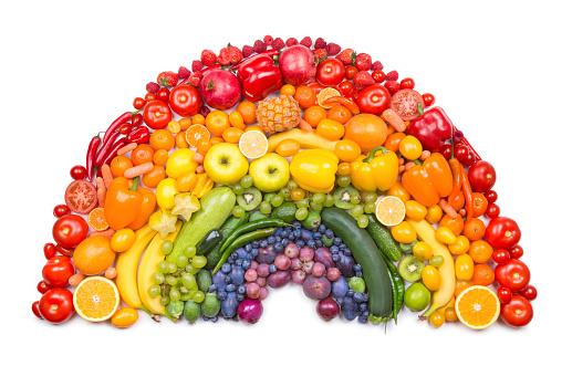 Food with Vitamin C rainbow