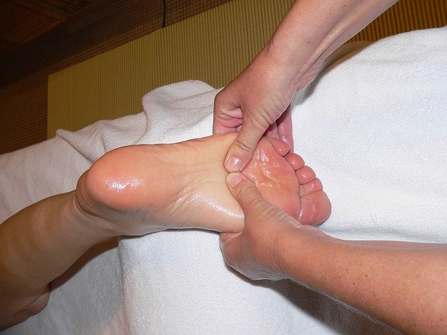 Black pepper oil foot massage