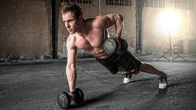 guy exercises