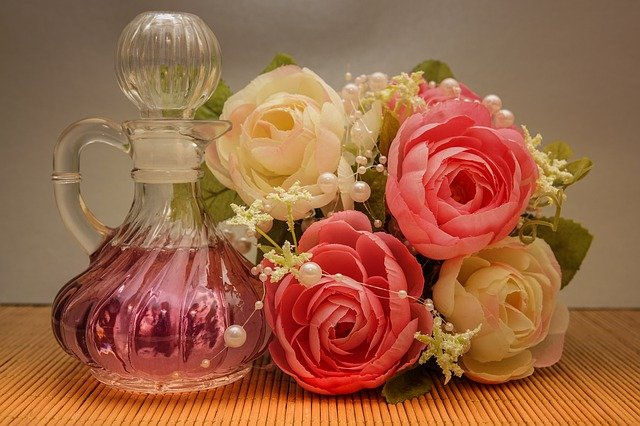 Rose Water, beads and a few roses