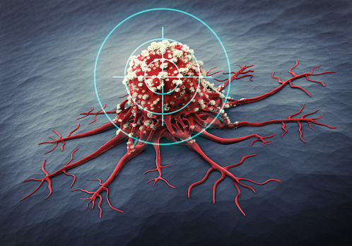 3D Rendering of a cancer cell